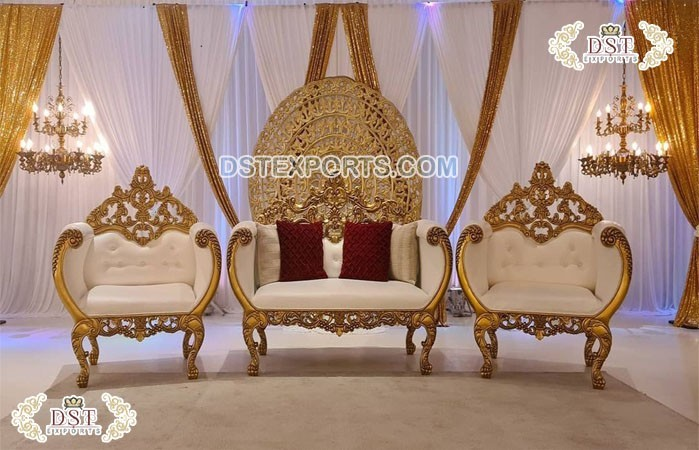 Classic Crown Sofa Set for Wedding Stage