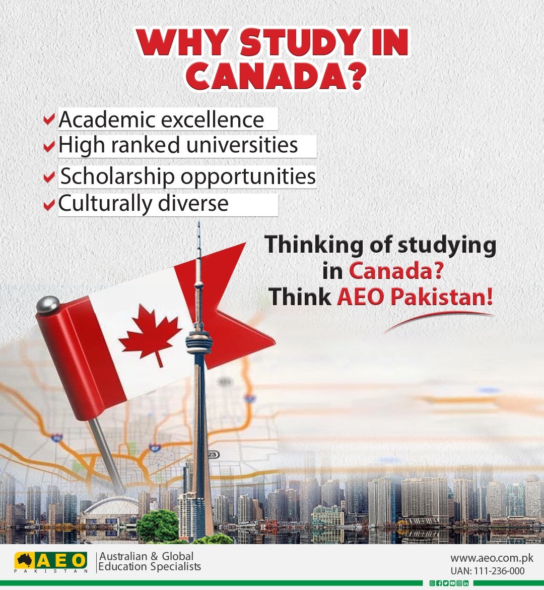 Thinking of studying in Canada? Think AEO Pakistan!