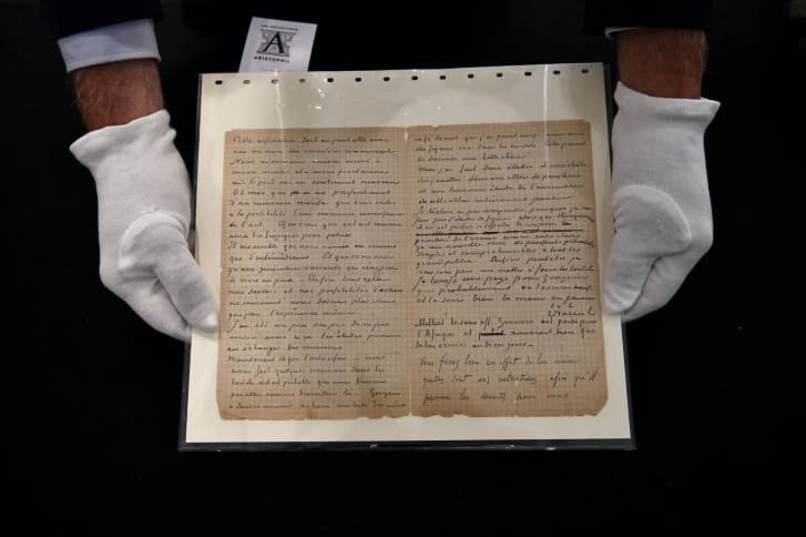 Rare letter detailing Van Gogh and Gauguin's brothel visits sells for $237K at auction.