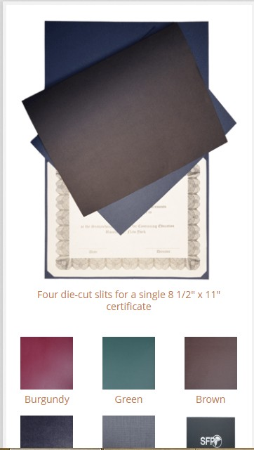 Purchase Certificate Folders, Diploma Holder and Certificate Covers at Low Cost