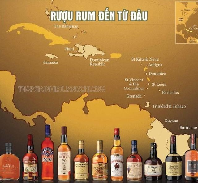 Ru?u rum là gì? Ngu?n g?c và s? th?t thú v? v? ru?u rum