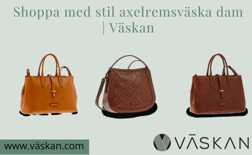 Shoppa med stil axelremsväska dam | Väskan