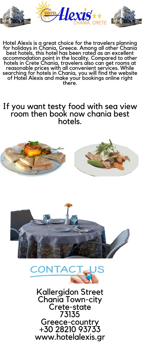 Book Chania Best Hotels at Reasonable Prices