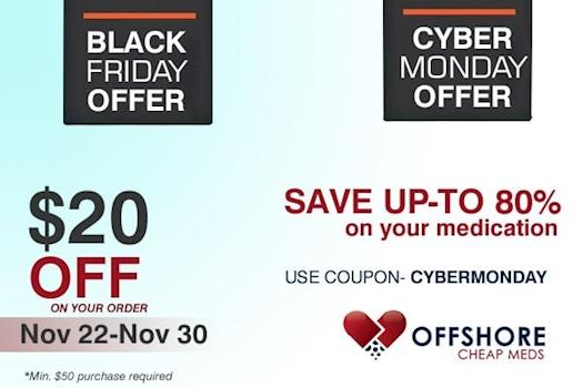 Cyber Monday offers on Medication