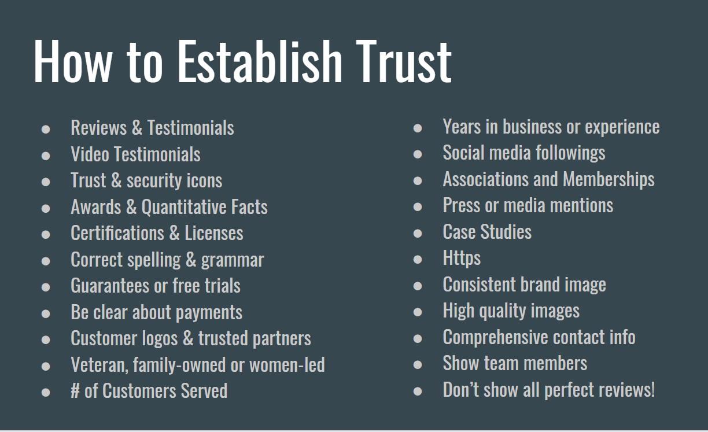 32 Ways to Establish Trust