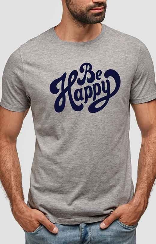 Be Happy T shirt for Men