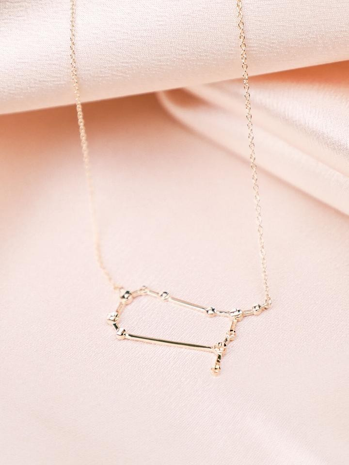 Gemini Constellation Necklace Gold