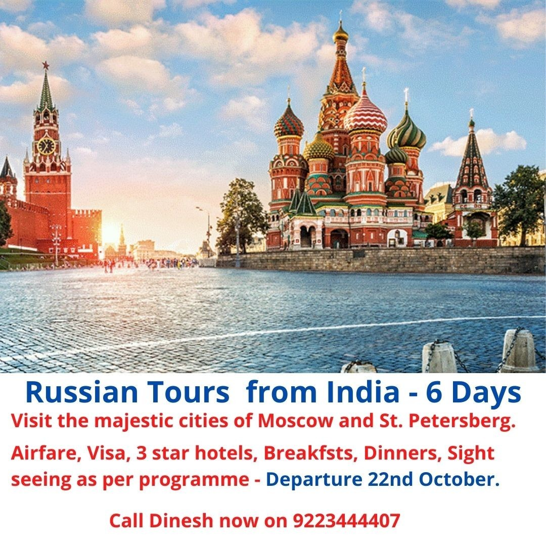 Russian tours from India