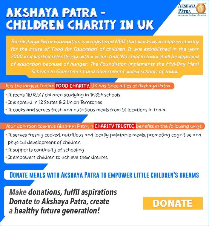 Akshaya Patra - Children Charity in UK