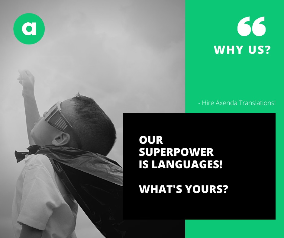 Our super power is languages!