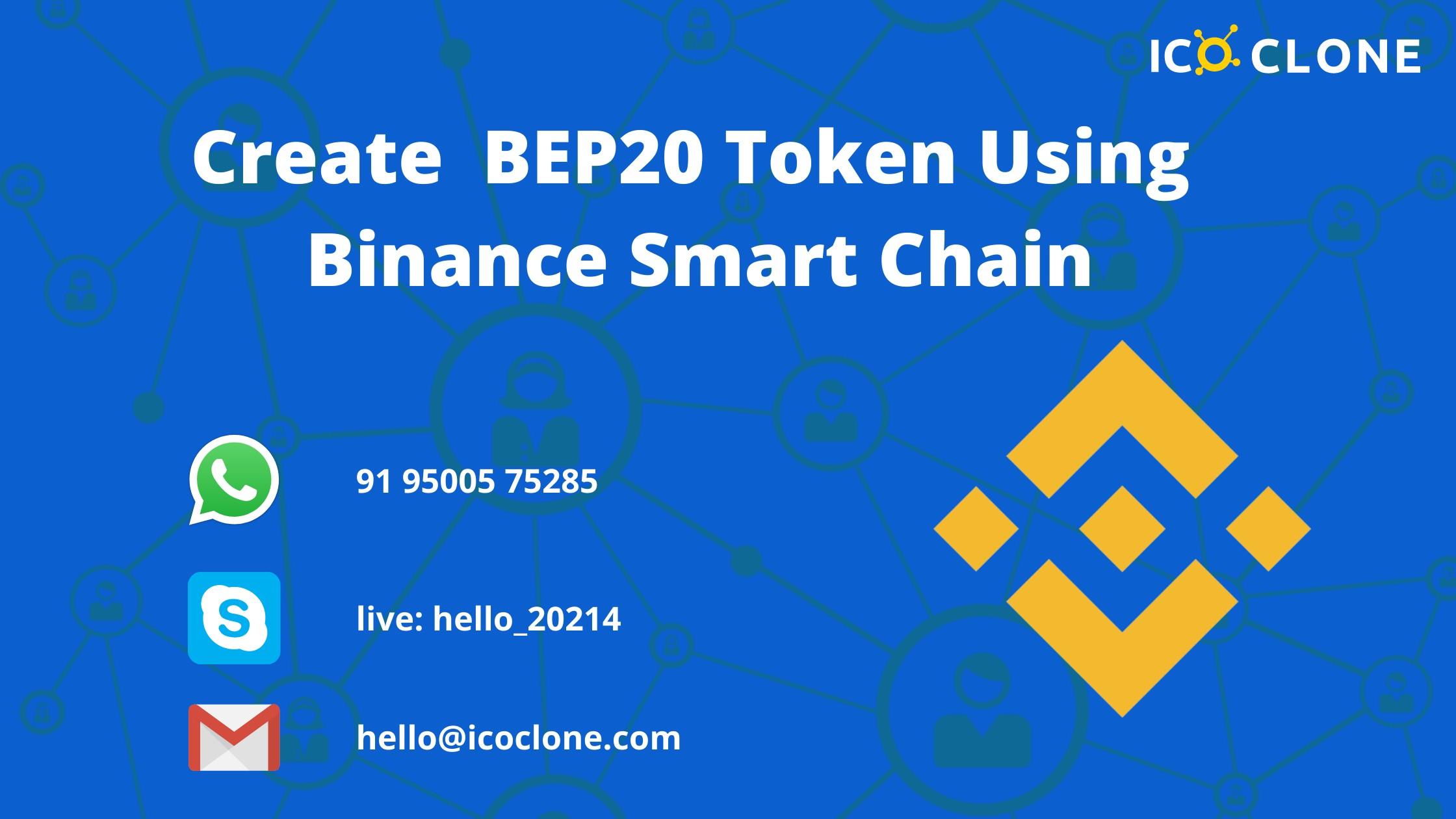 Create BEP20 token using Binance Smart Chain