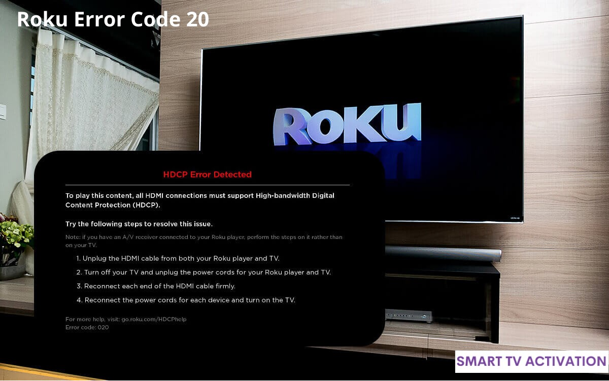 Solution Roku Error Code 20  | Smart Tv Activation
