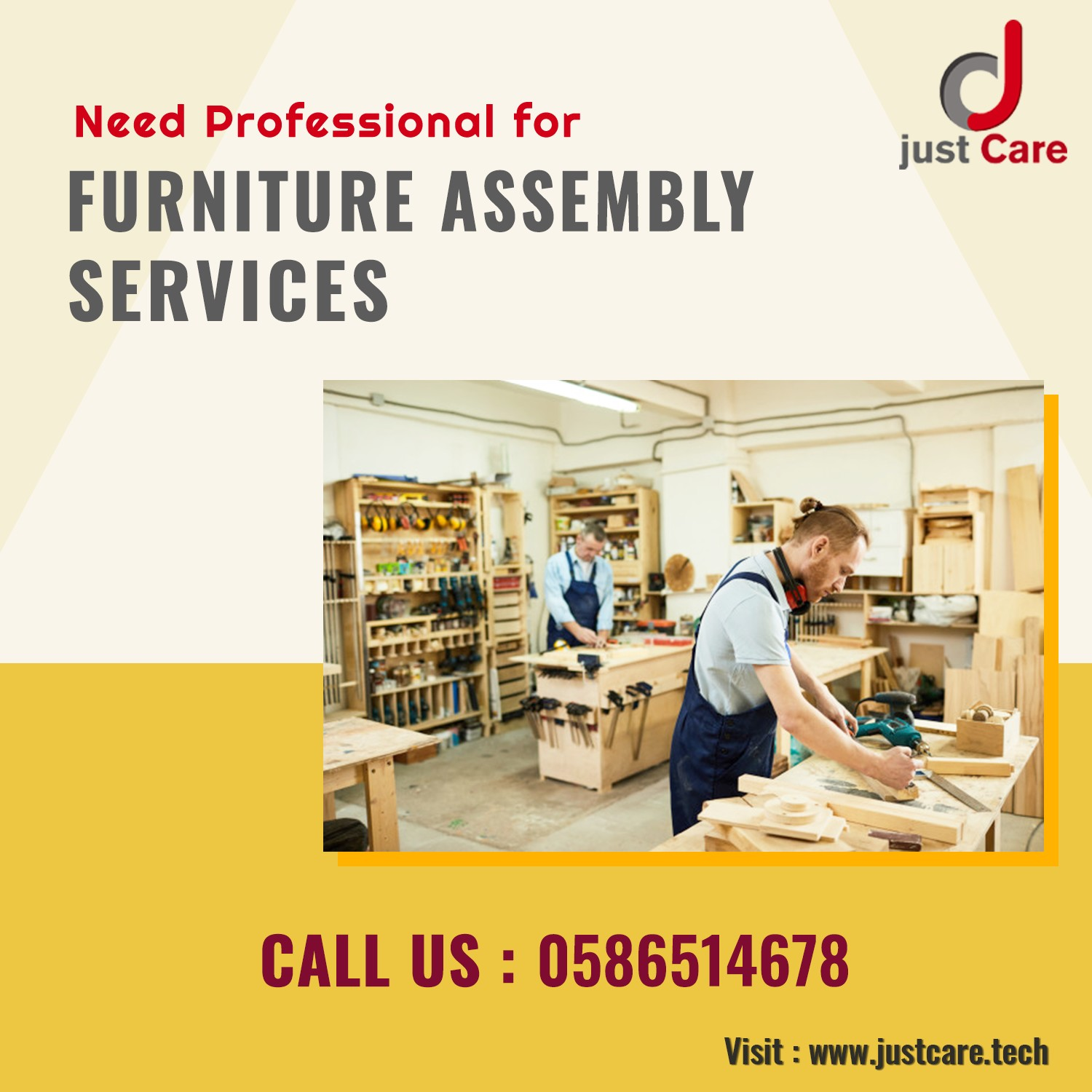 Book Furniture Assembly Services in Dubai at AED 95 | Handyman