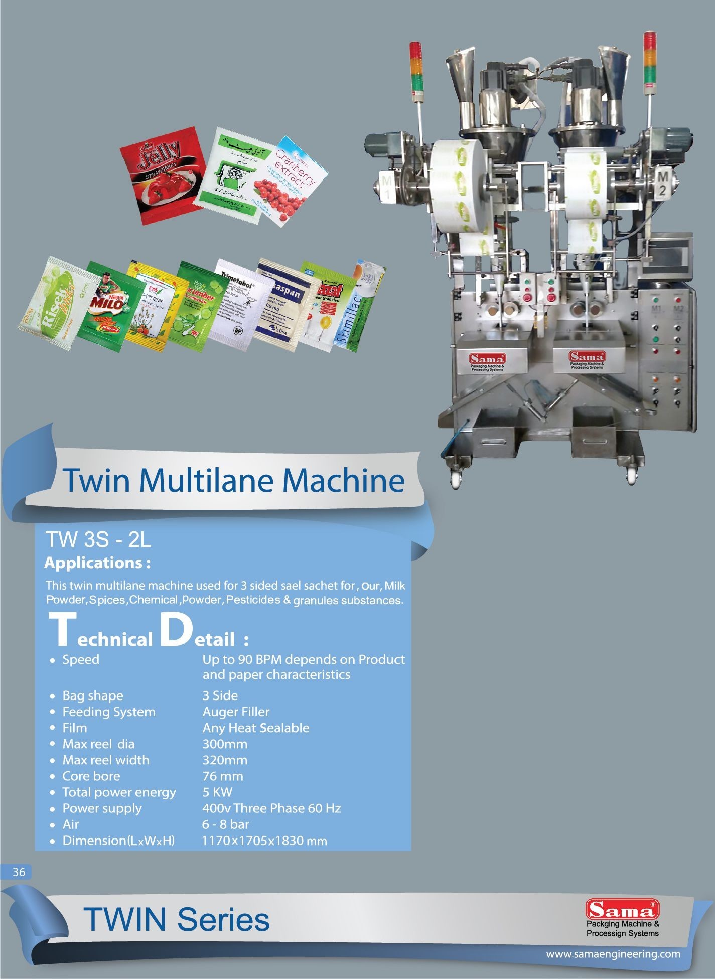 Twin Multilane Machine TW 3S-2L