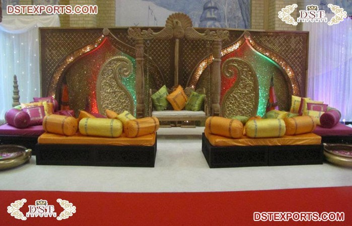 Moroccan Mehndi Party Stage Decoration
