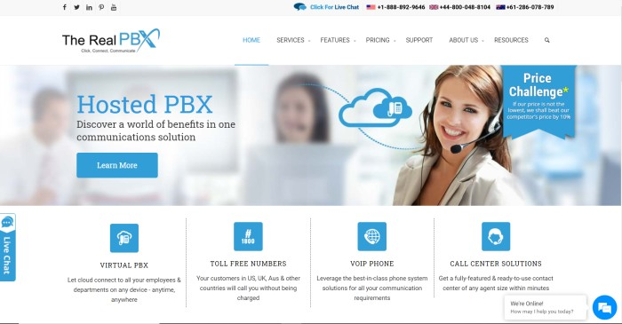 the real pbx website