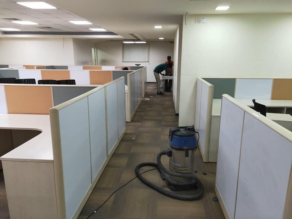 Vacuuming Office