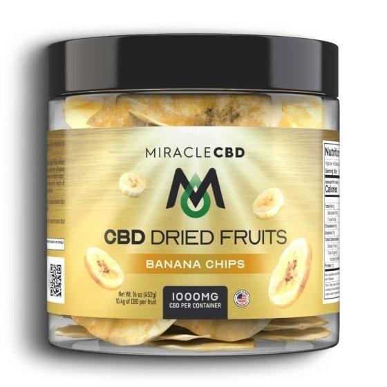 Miracle CBD Dried Fruits Banana Chips 1000mg