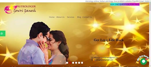 Get Ex Love Back Services in Perth, Australia -Astrologer Gowri Ganesh: