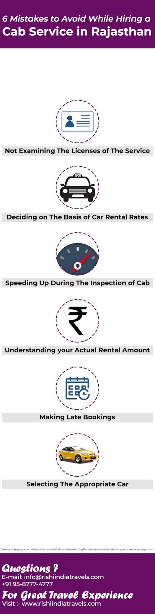 6 Mistakes to Avoid W hile Hiring a Cab Service in Rajasthan
