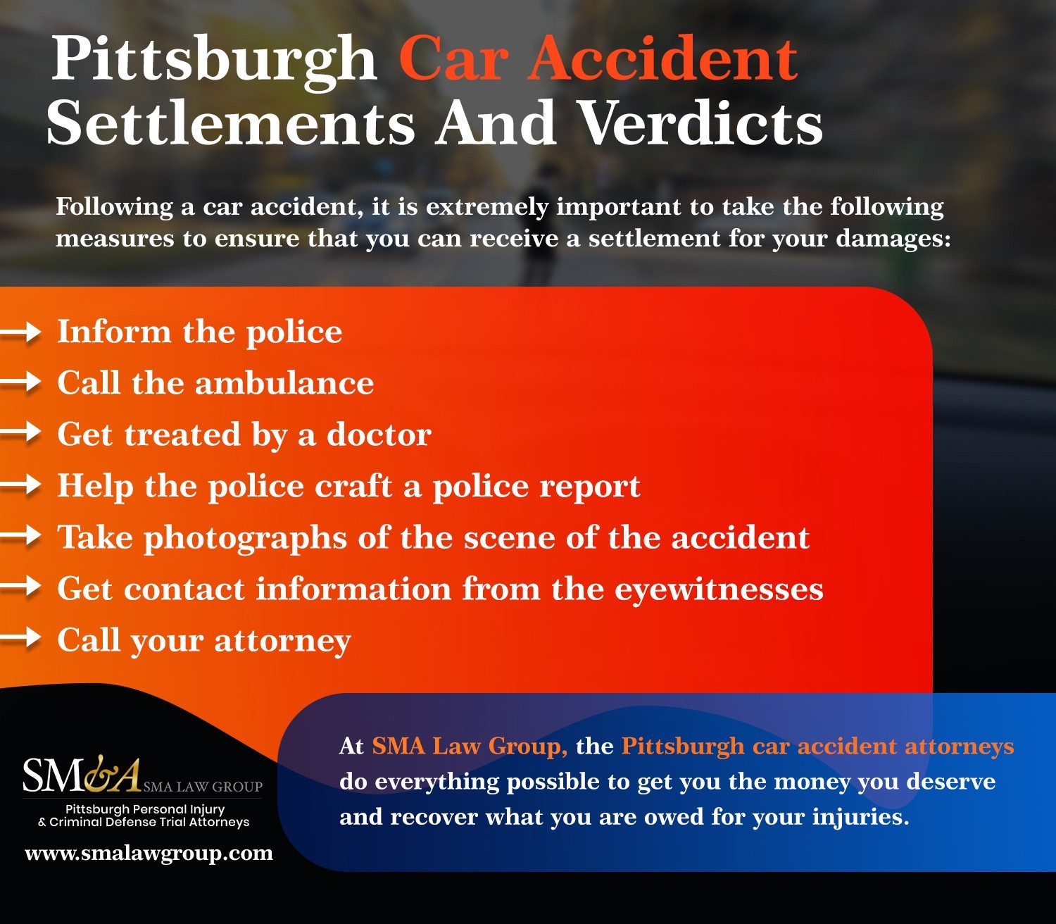 Pittsburgh Car Accident Settlements And Verdicts