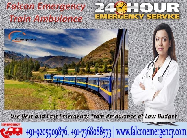 Pondering Upon Shifting a Patient to Another City? Opt for Falcon Emergency Train Ambulance