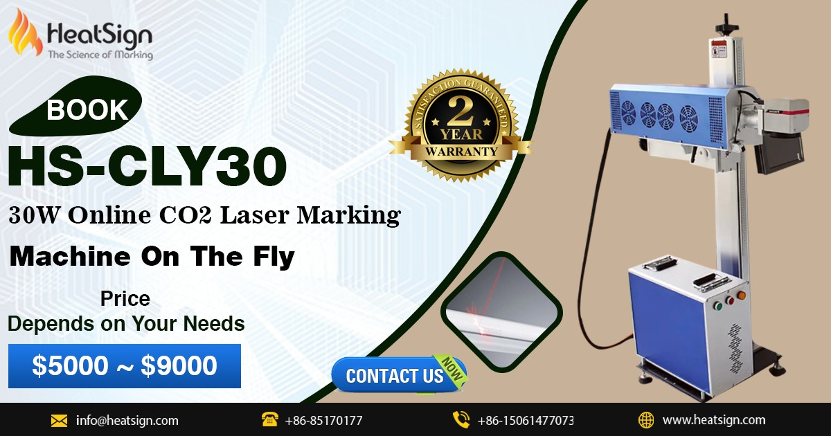 HS-CLY30 30W Online CO2 Laser Marking Machine On The Fly at HeatSign