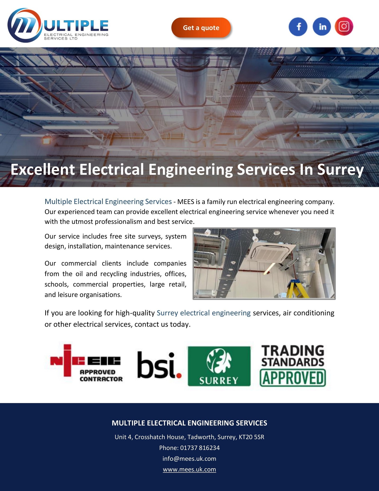Excellent Electrical Engineering Services In Surrey