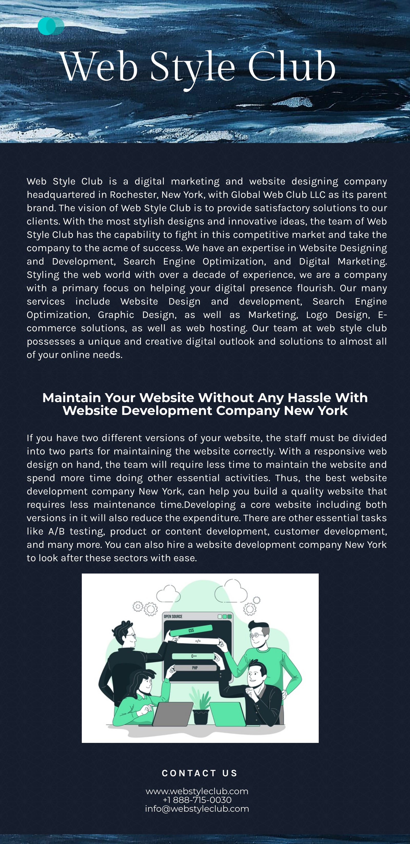 Reduce the penalty risk of duplicate content with web development in New York
