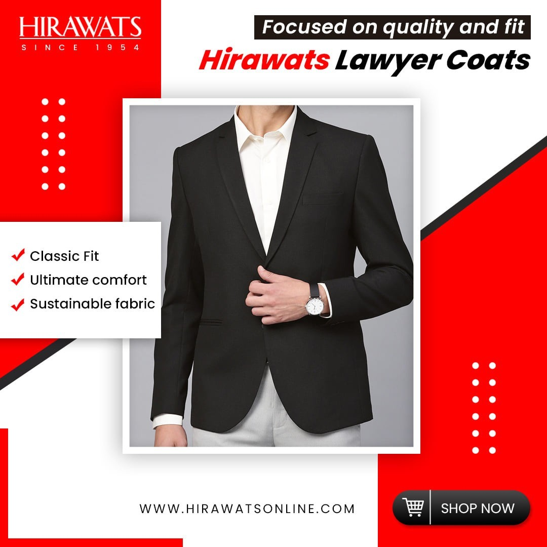 Buy Skin-Friendly Hirawats Lawyer Coats for Best Price