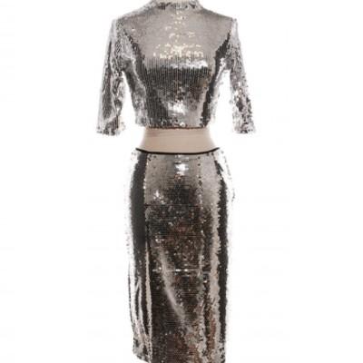 Sequin Two Piece Party Wear Dresses Atlanta