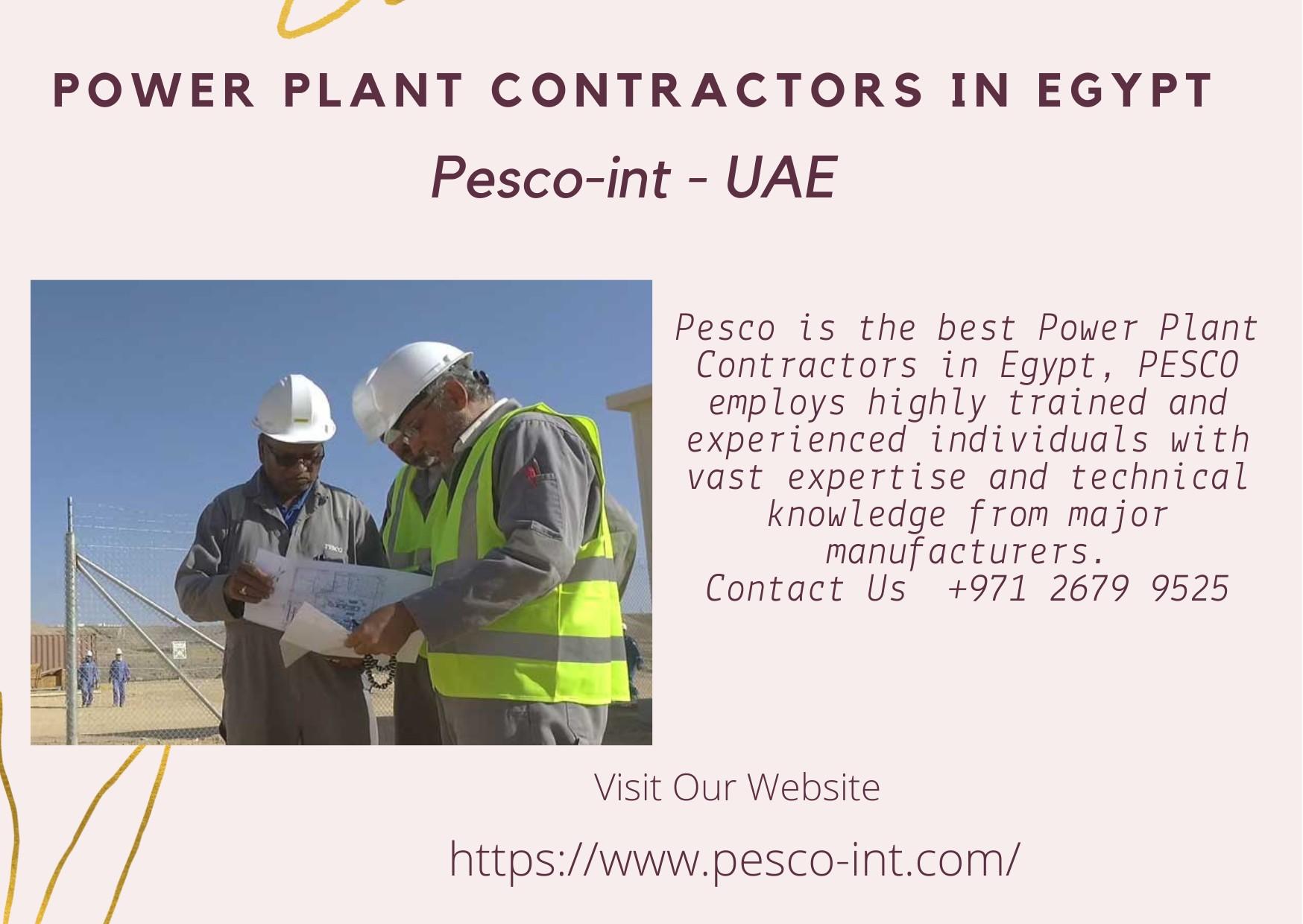 Power Plant Contractors in Egypt | Pesco-int - UAE
