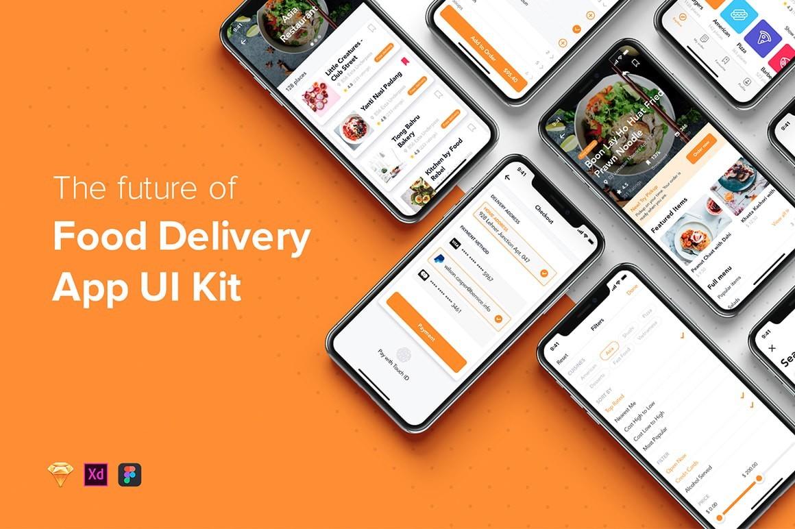 Food Delivery App UI Kit   Draftik