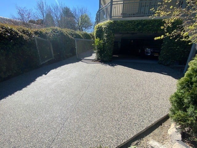 Check Out Recently Exposed Aggregate Driveway