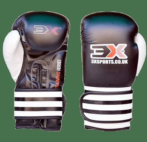 3X Sports Training Gloves (White/Black)