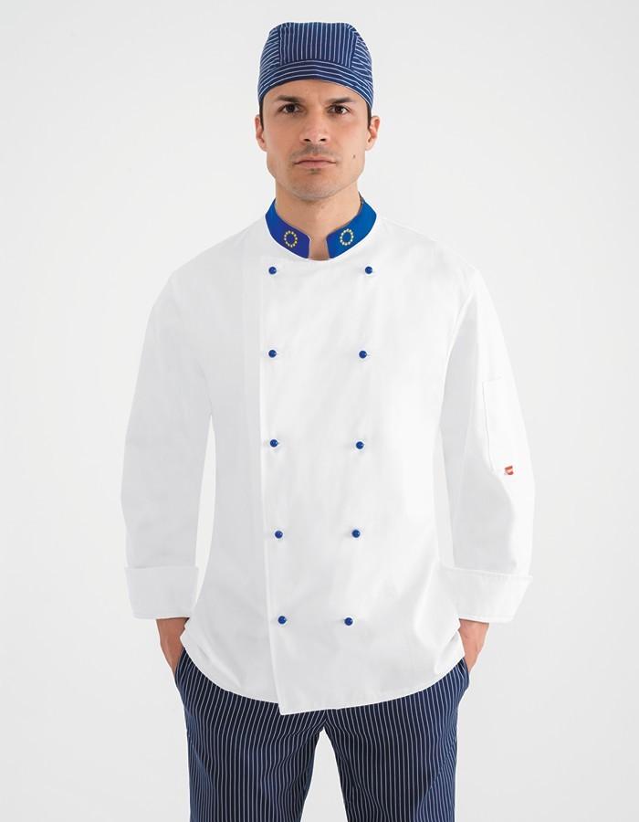 Acquista Giacca da cuoco Europa Chef in cotone bianco