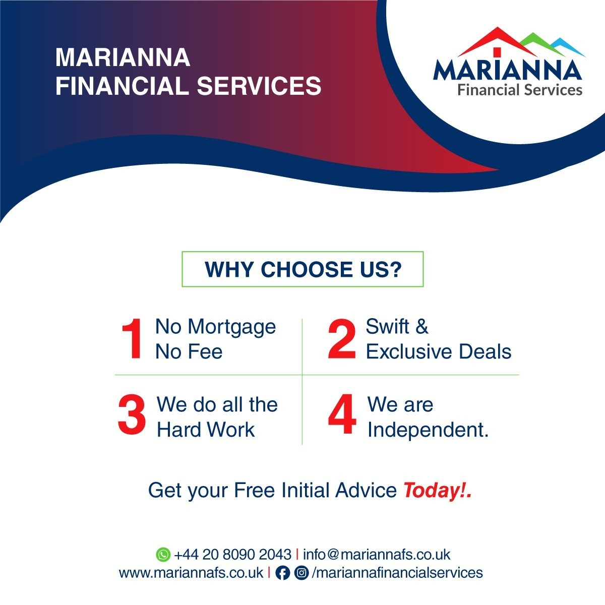 Why Choose Marianna Financial Services