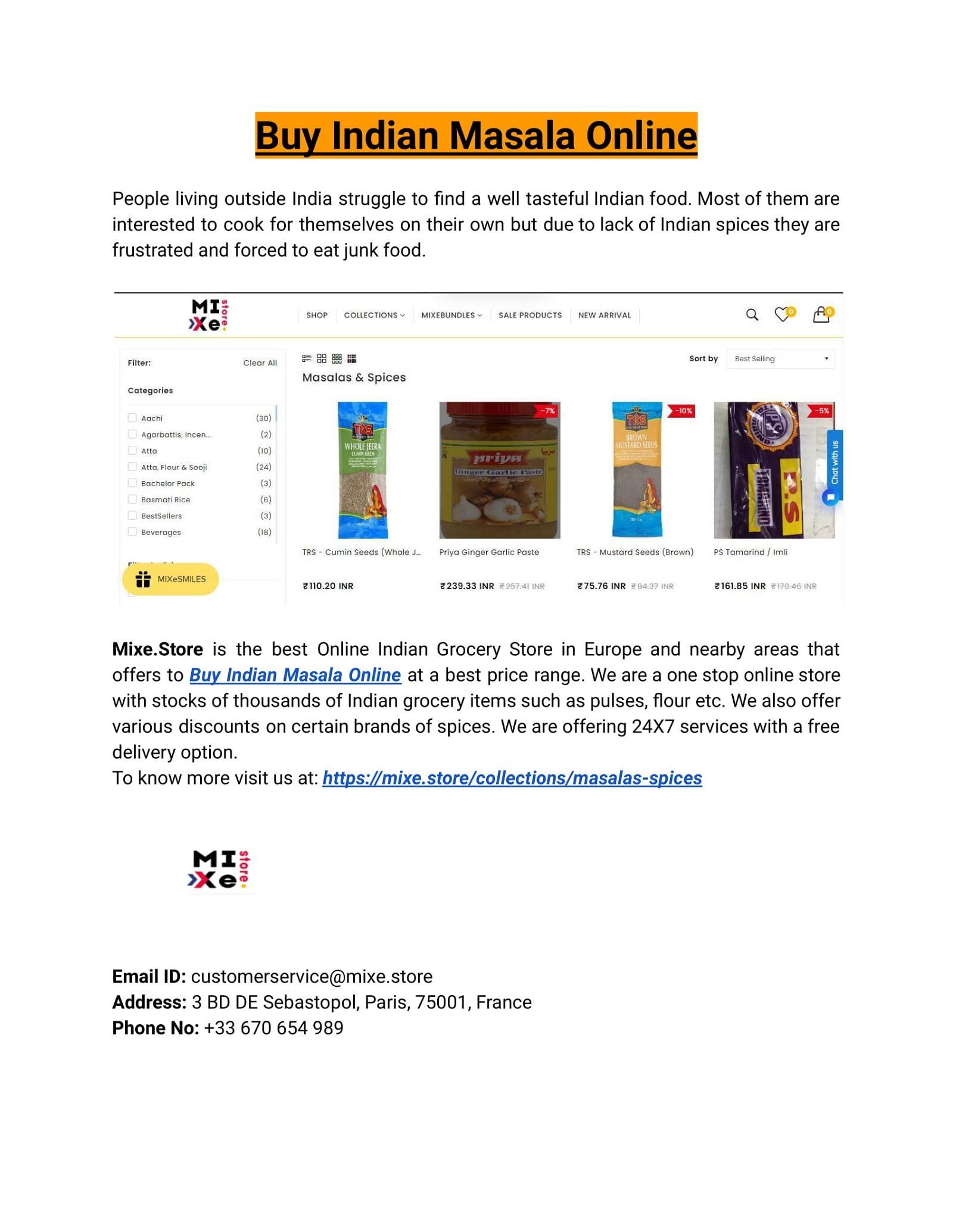 Buy Indian Masala Online