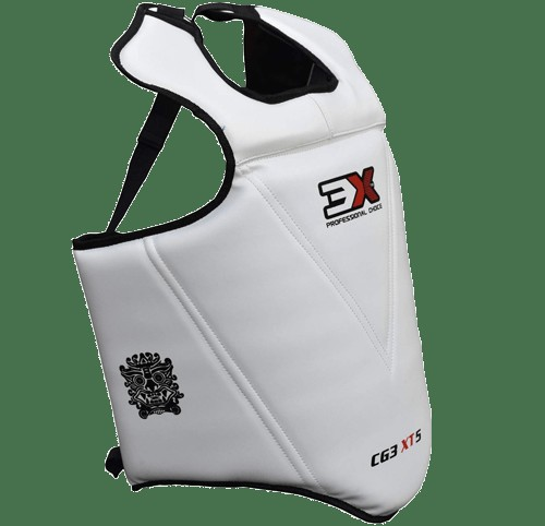 3X Sports Kids Professional Chest Guard (White)