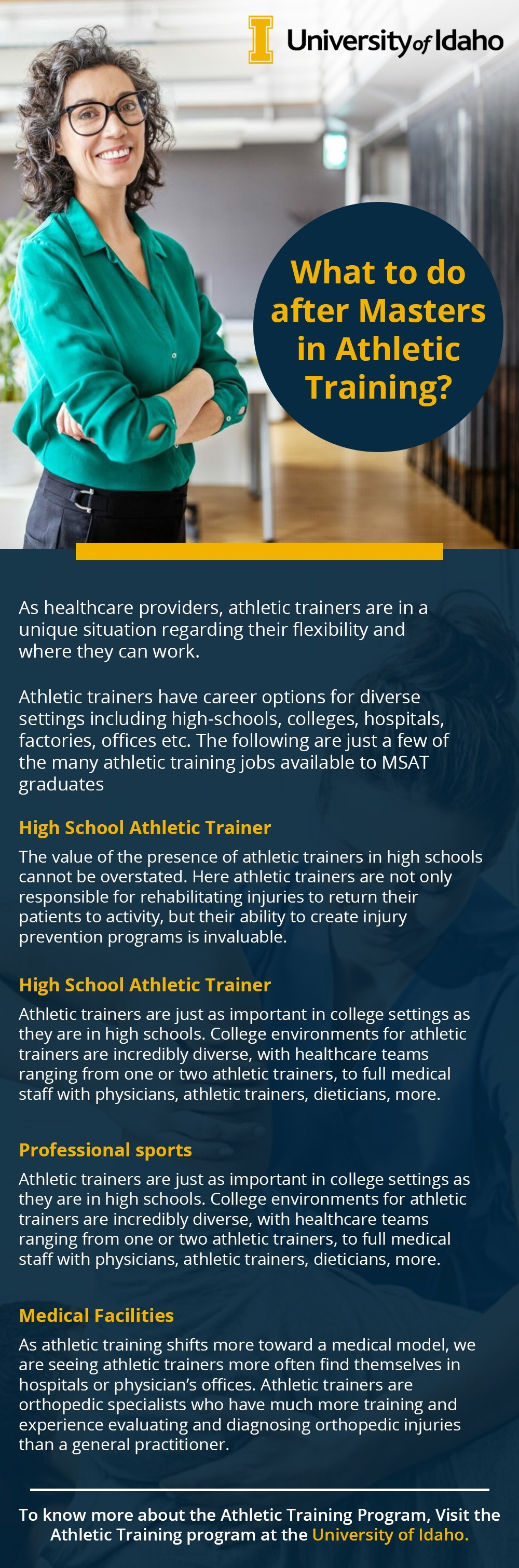 What to do after Masters in Athletic Training?