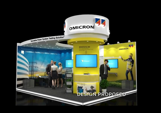 Omicron Exhibition Stand Design