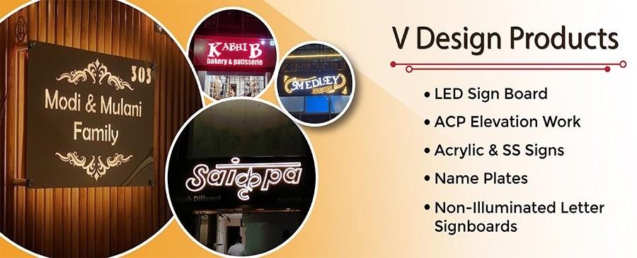 LED Sign Board Manufacturer in Ahmedabad | V Design