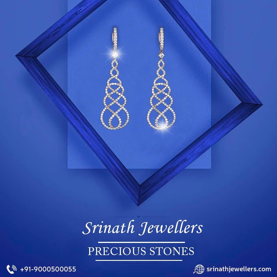 'Stunning and  Light In Weight Antique Jhumka' by srinath jewellers