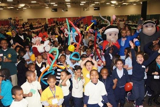 Children celebrate the season at NJAA Charitable Fund's 16th annual Holiday Party