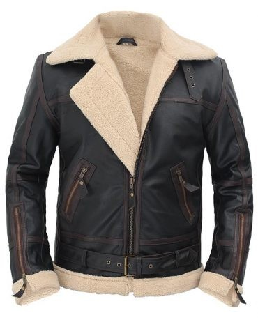 Alexander Shearling Leather Flight Jacket