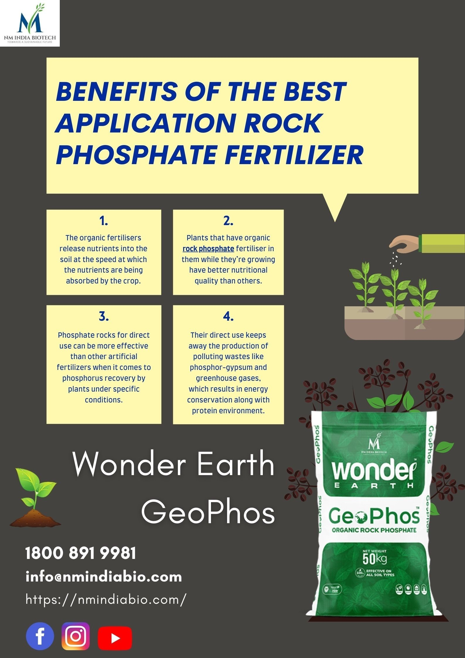 Top 4 Benefits of Rock Phosphate Fertilizer | NM India Biotech