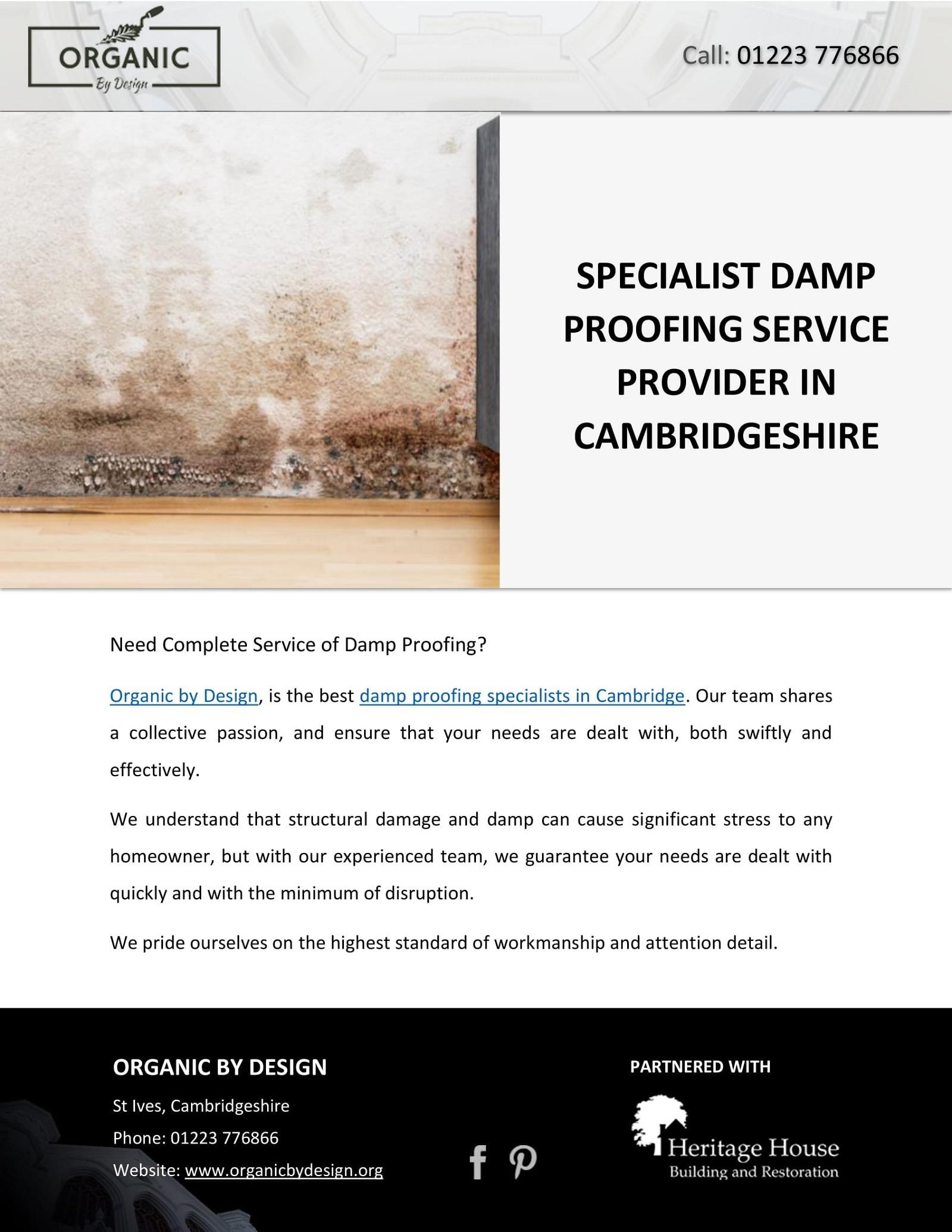 SPECIALIST DAMP PROOFING SERVICE PROVIDER IN CAMBRIDGESHIRE