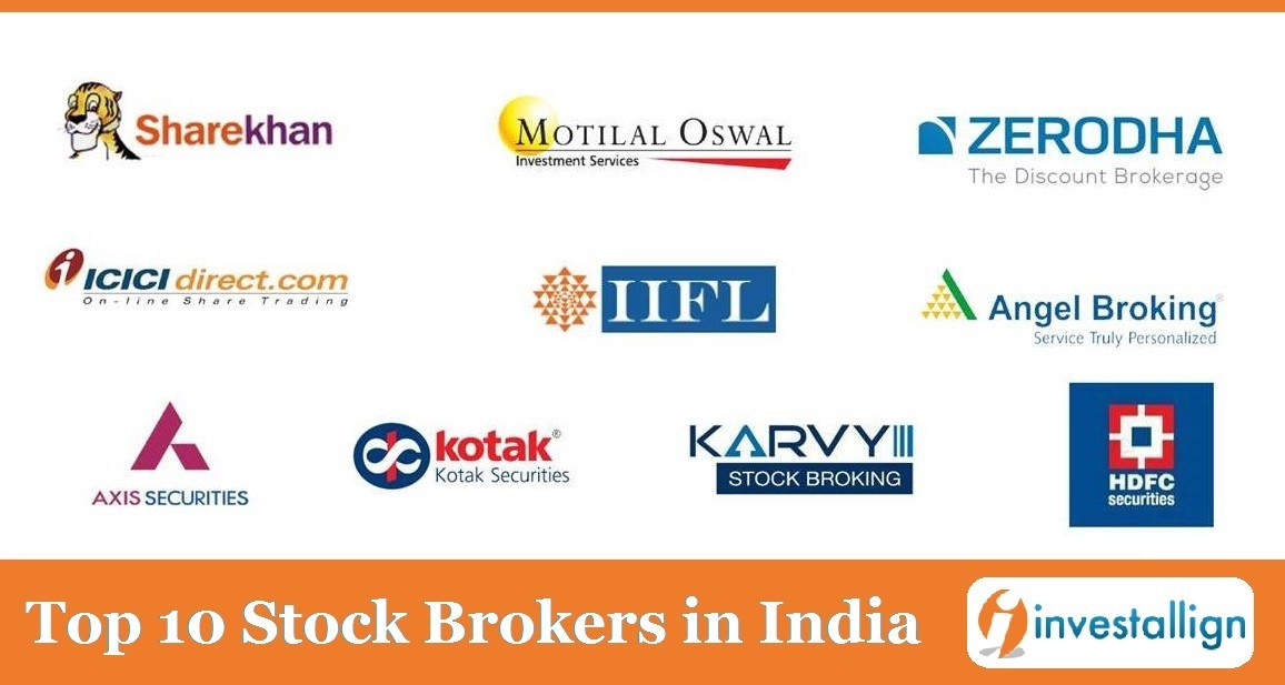 Top 10 Stock Brokers in India | Updated List by Investallign