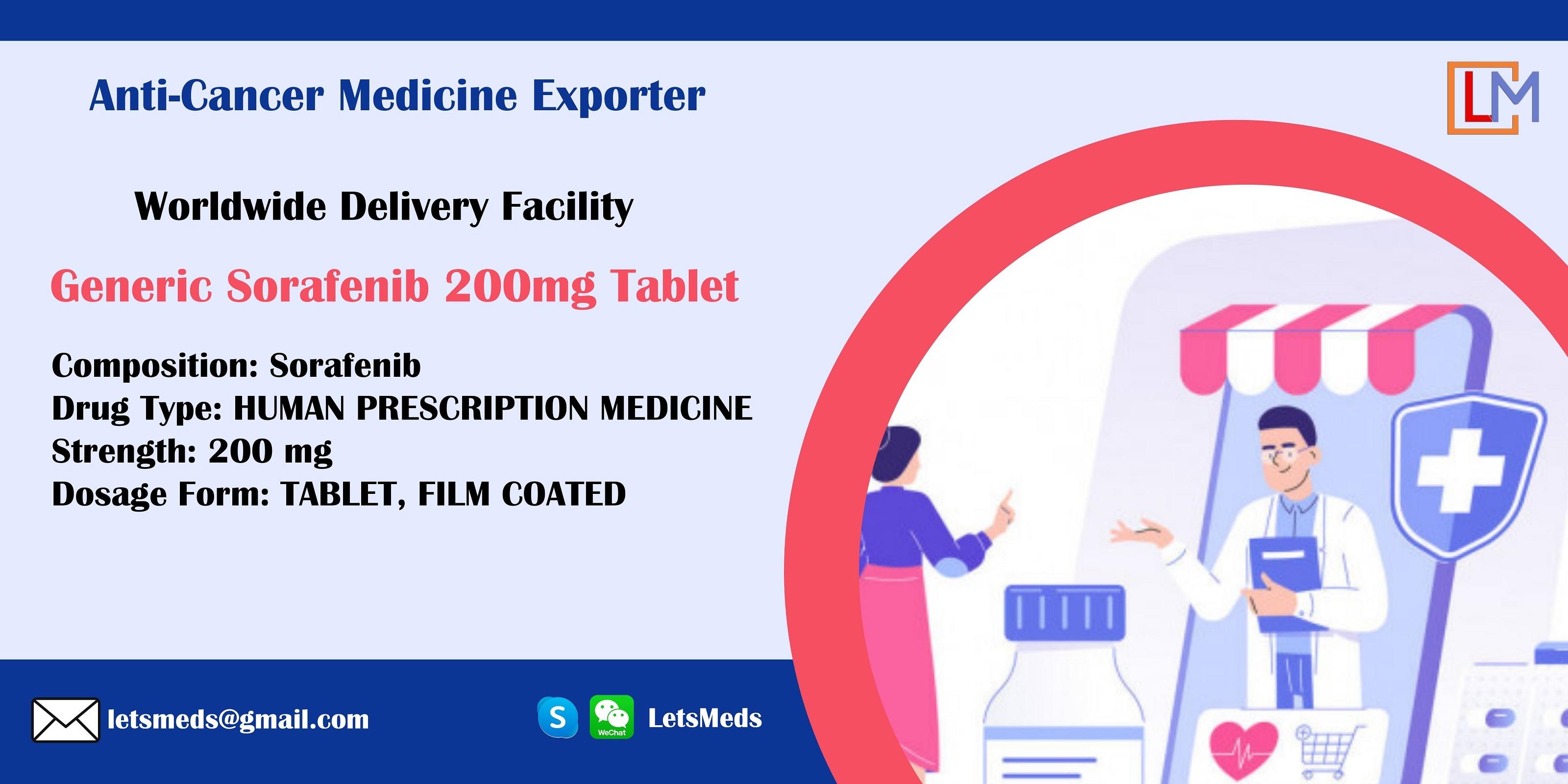 Sorafenib IP Price Generic Medicine Supplier Philippines