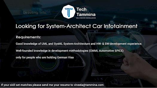 Looking For System Architect Infotainment